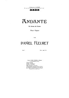 Andante in Canonical Form, Op.7: Andante in Canonical Form by Daniel Fleuret