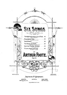 Six Songs, Op.43: No.2 A Roumanian Song by Arthur Foote