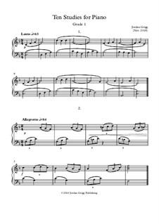 Ten Studies for Piano: Ten Studies for Piano by Jordan Grigg