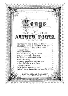 Five Songs, Op.13: No.2 I'm Wearing Awa' to the Land o' the Leal by Arthur Foote