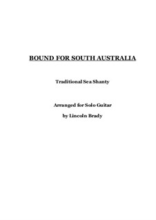 Bound for South Australia: For guitar by folklore