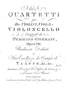 Six String Quartets, Op.8: Viola part by Tommaso Giordani