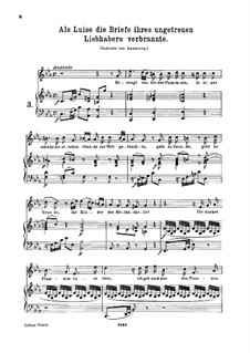 Als Luise die Briefe, K.520: For high voice and piano by Wolfgang Amadeus Mozart