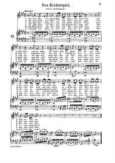 Das Kinderspiel, K.598: For high or medium voice and piano by Wolfgang Amadeus Mozart