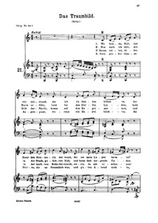 Traumbild, K.530: For medium voice and piano by Wolfgang Amadeus Mozart