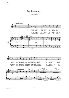 Der Zauberer, K.472: For high voice and piano by Wolfgang Amadeus Mozart
