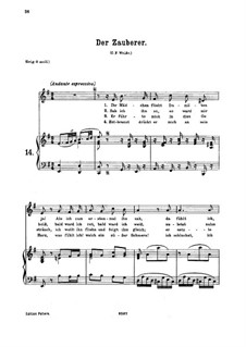 Der Zauberer, K.472: For medium or low voice and piano by Wolfgang Amadeus Mozart