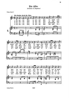 Die Alte, K.517: For low voice and piano by Wolfgang Amadeus Mozart