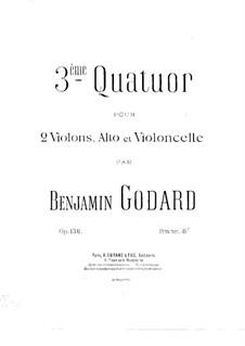 String Quartet No.3 in A Major, Op.136: Violin I part by Benjamin Godard
