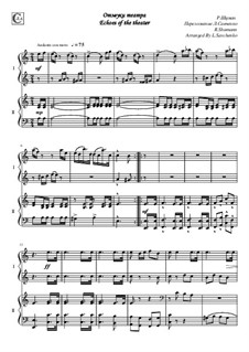 No.25 Nachklänge aus dem Theater (Echoes from the Theatre): For piano four hands by Robert Schumann