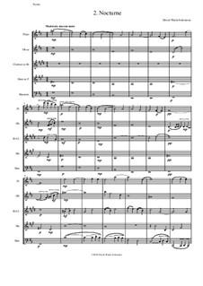 Sweet Suite: Nocturne for wind quintet by David W Solomons
