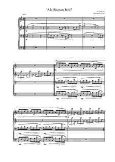 Alo Rococo bird for Piano, MVWV 1219: Alo Rococo bird for Piano by Maurice Verheul
