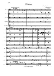 Sweet Suite: Nocturne for flute quintet (piccolo, 2 flutes, alto flute and bass flute) by David W Solomons