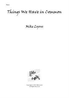New series of beginner piano pieces: 6. Things We Have in Common - Easy Piano by Mike Lyons