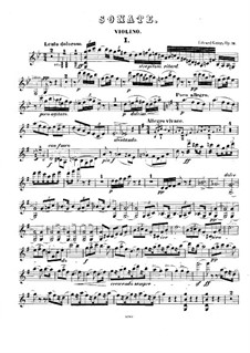 Sonata for Violin and Piano No.2 in G Major, Op.13: Solo part by Edvard Grieg