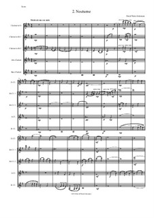Sweet Suite: Nocturne for clarinet quintet (E flat, 2 B flats, alto and bass) by David W Solomons