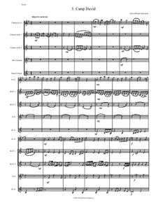 Sweet Suite: Camp David for clarinet quintet (E flat, 2 B flats, alto and bass) by David W Solomons