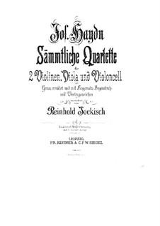 String Quartet No.27 in D Major, Hob.III/34 Op.20 No.4: Violin I part by Joseph Haydn