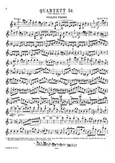String Quartet No.42 in C Major, Hob.III/57 Op.54 No.2: Violin I part by Joseph Haydn