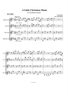 A Little Christmas Music: For saxophone quartet by Lena Orsa