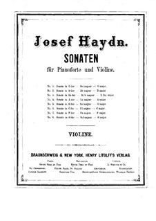Complete set: Solo part by Joseph Haydn