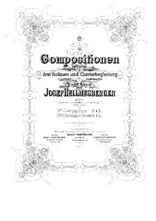 Les Papillons for Three Violins and Piano: Full score by Joseph Hellmesberger