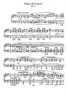 Allegro de concert, Op.46: For piano by Frédéric Chopin