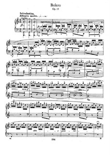 Bolero in A Minor, Op.19: For piano by Frédéric Chopin