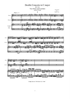 Concerto for Two Oboes and String Orchestra in A Major, RV 534: Version for two oboes and cembalo (or piano) by Antonio Vivaldi
