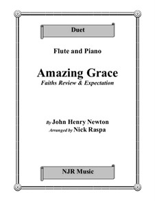 Amazing Grace: For flute and piano by folklore
