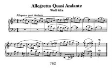 Allegretto Quasi Andante, WoO 61a: For piano by Ludwig van Beethoven
