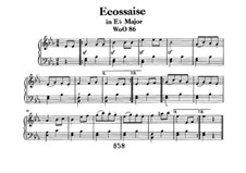 Écossaise in E Flat Major, WoO 86: For piano by Ludwig van Beethoven