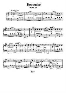 Écossaise in G Major, WoO 23: For piano by Ludwig van Beethoven