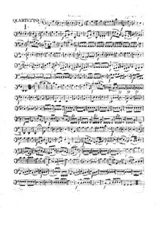 Three Сoncert Quartets for Flute, Violin, Viola and Cello, Op.29: Cello part by Franz Anton Hoffmeister