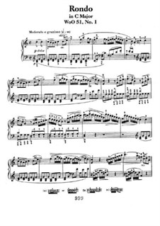 Two Rondos for Piano, Op.51: Rondo No.1 by Ludwig van Beethoven