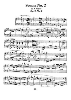 Three Sonatas for Piano, Op.2: Sonata No.2 by Ludwig van Beethoven