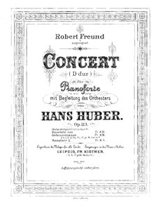 Piano Concerto No.3, Op.113: Version for two pianos eight hands – piano II part by Hans Huber