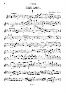 Sonata for Violin and Piano in C Minor, Op.18: Solo part by Hans Huber