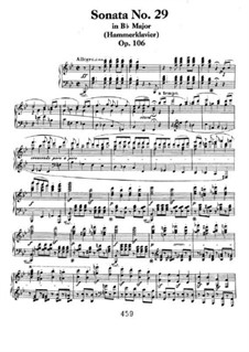 Sonata for Piano No.29, Op.106: For a single performer by Ludwig van Beethoven