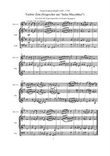 Judas Maccabaeus, HWV 63: Siegeschor, für Soloinstrument und Orgel by Georg Friedrich Händel