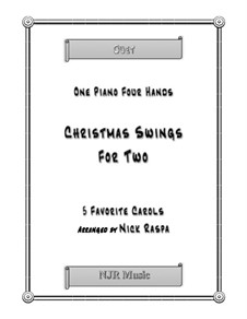 Christmas Swings For Two (1 piano 4 hands) intermediate: Christmas Swings For Two (1 piano 4 hands) intermediate by folklore, James Lord Pierpont