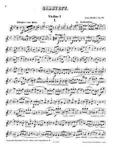 String Quartet in G Minor, Op.25: Violin I part by Arno Kleffel