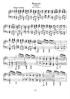 Four Pieces, Op.119: No.4 Rhapsody by Johannes Brahms