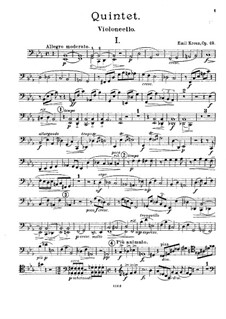 Quintet for Horn (or Viola) and Strings in E Flat Major, Op.49: Cello part by Emil Kreuz