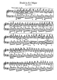 No.10 in A Flat Major: For piano by Frédéric Chopin