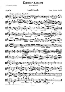 Chamber Concerto in the Old Style for Flute and String Orchestra, Op.112: Viola Part by Emil Kronke