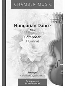 Dance No.6 in D Flat Major: For string quartet by Johannes Brahms