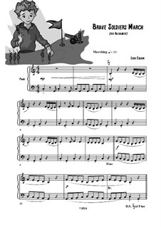 Brave Soldiers March (play Playfully) easy piano: Brave Soldiers March (play Playfully) easy piano by Lena Elboim