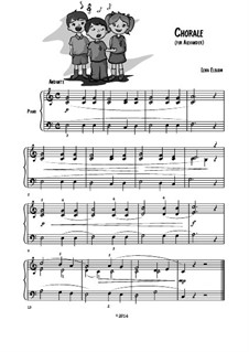 Chorale (Play Playfully) easy piano: Chorale (Play Playfully) easy piano by Lena Elboim