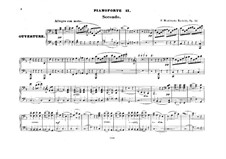 The Fair Melusina, Op.32: Version for two pianos eight hands – piano II part by Felix Mendelssohn-Bartholdy